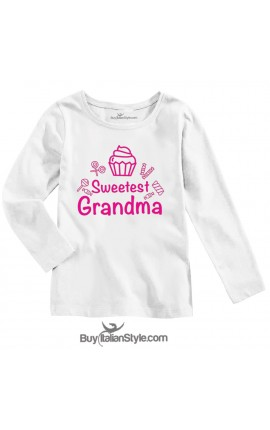 "BABY GIRL'S TEE ""Sweetest Grandma"""