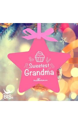 "Christmas Ornament Star ""Sweetest Grandma"""