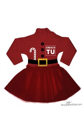 """Abitino """"Babbo Natale"""" femminuccia da personalizzare"""