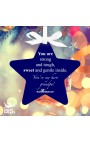"""Christmas Ornament Star """"You are strong and tough, sweet and gentle inside. You're my hero grandpa"""""""