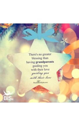 """Christmas Ornament Star """"There's no greater blessing than having grandparents guiding you with their love"""""""