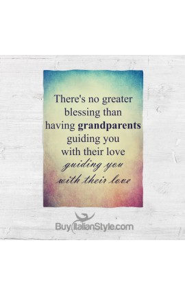"Fleece Blanket ""There's no greater blessing than having grandparents guiding you with their love"""
