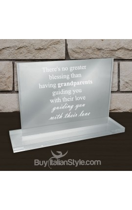 "Desk Plate ""There's no greater blessing than having grandparents guiding you with their love"""