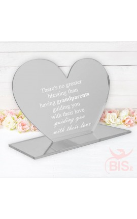 "Desk Plate Heart ""There's no greater blessing than having grandparents guiding you with their love"""