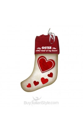 "Epiphany Stocking ""A sister is half of your heart"""