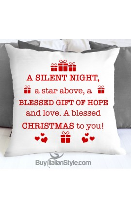 "Pillowcase ""A blessed Christmas to you!"""