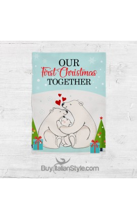 "Fleece blanket ""OUR FIRST CHRISTMAS TOGETHER"""