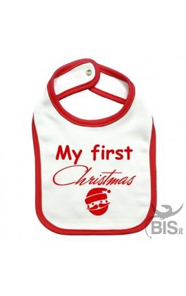 "Baby Bib ""My first Christmas"""
