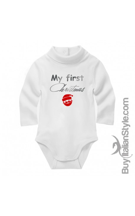 "Baby Neck Bodysuit ""My first Christmas"""