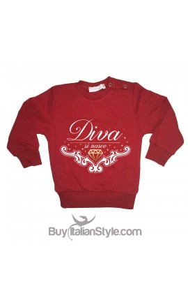 "Little Girl Sweatshirt ""Born to be a diva"""