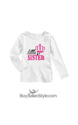 "Baby Girl'S TEE ""Little Sister"""