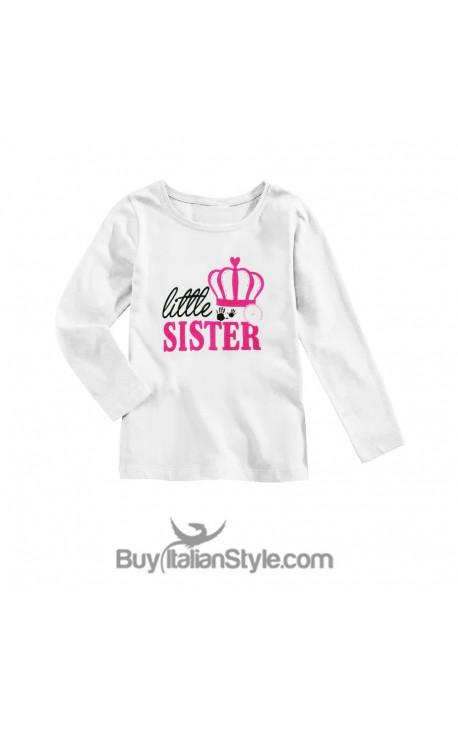 """T-shirt bimba manica lunga """"Little Sister"""""""