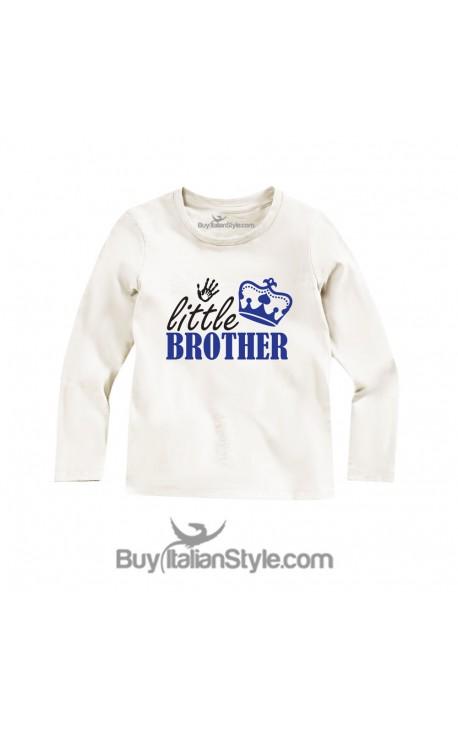 """Maglietta bimbo con stampa""""Little Brother"""""""