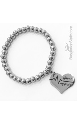 "Braccialetto stile tiffany con charm ""You are my person"""