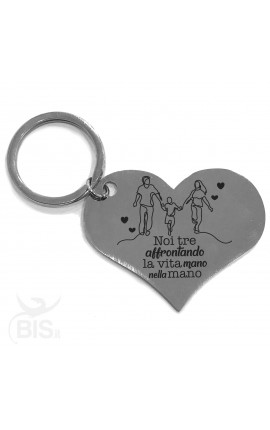 "Personalized Heart Shaped Keyring ""We may not have it all together, but together we have it all"""