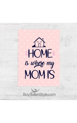 "Fleece blanket ""Home is where Mum is"""