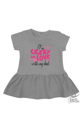 """Baby girl dress """"I'm crazy in love with my dad"""""""