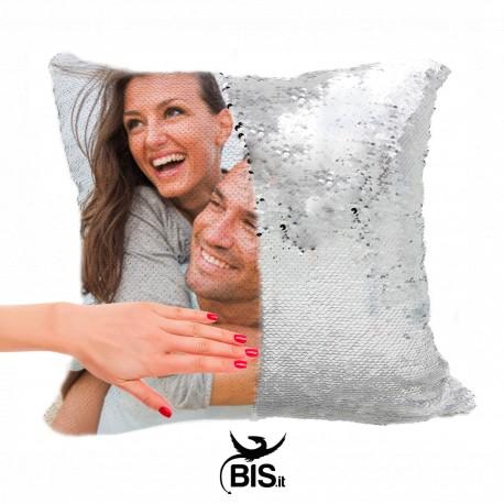 Cuscino quadrato  personalizzabile con paillettes