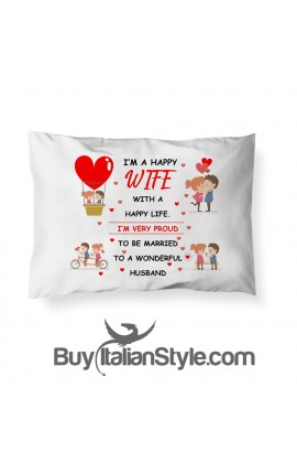 """Pillowcase with dedication """"To my Wife..."""""""