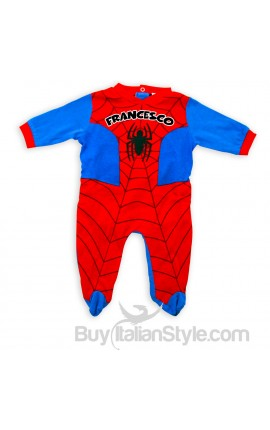 Tutina Spiderman con nome da personalizzare