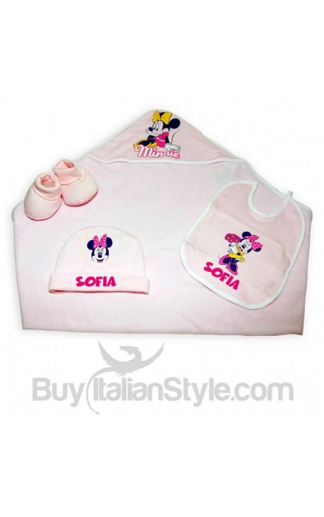 Corredino estivo Disney con nome e Minnie