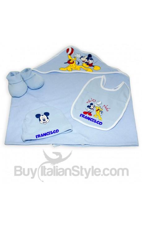 Corredino estivo Disney con nome e Topolino