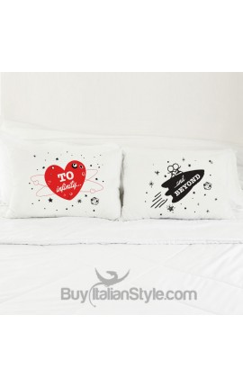 """Love Couples pillowcases """"To infinity and beyond"""""""