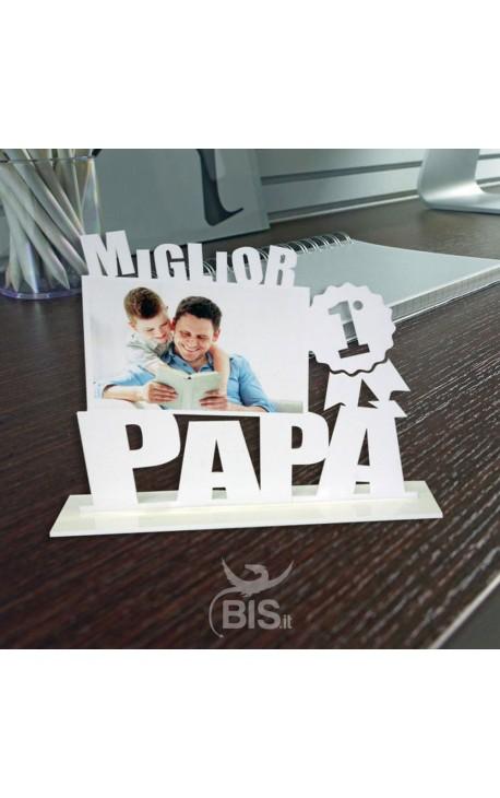 """Targhetta in plexiglass """"Miglior papà"""" da personalizzare"""