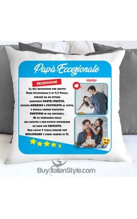 """Federa cuscino """"Papà eccezionale"""" da personalizzare"""