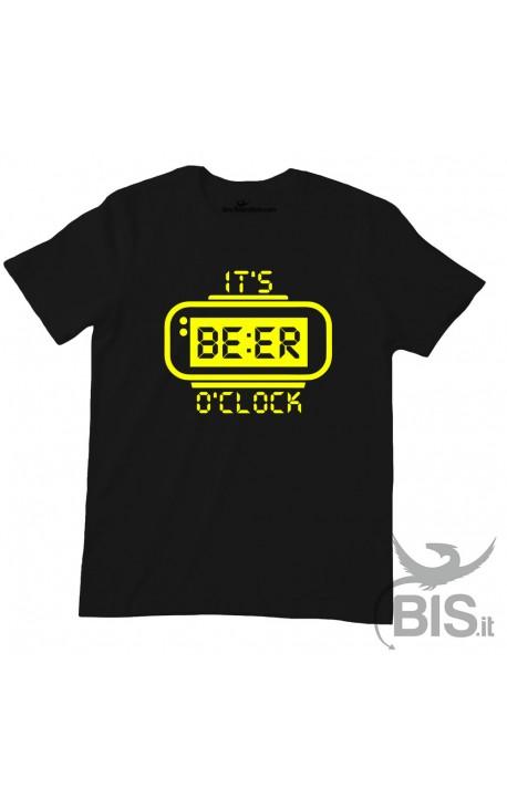 "T-shirt uomo mezza manica ""It's Beer o' clock"""