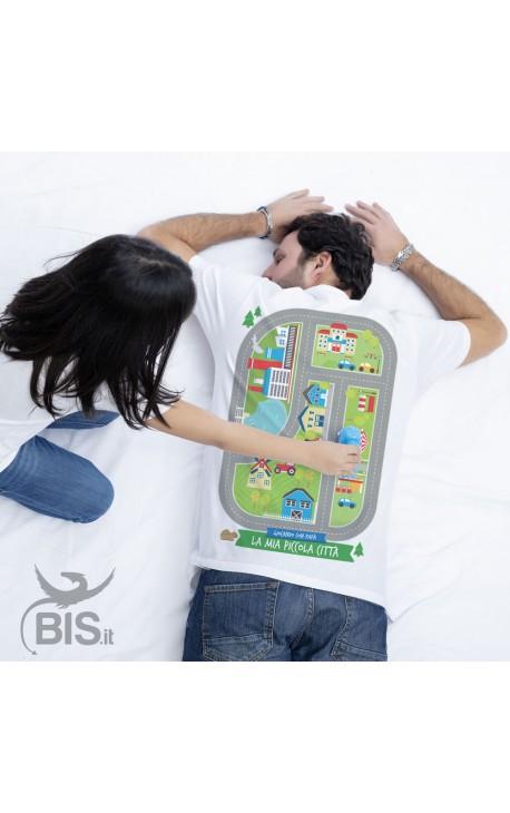 """T-shirt uomo """"La mia pista, giocando con Papà"""""""