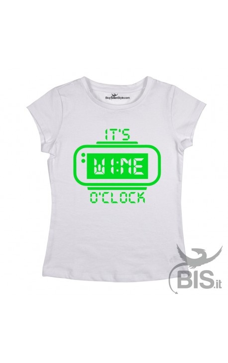 "T-shirt Donna ""It's wine o'clock"""