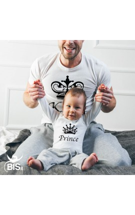 "Dad and Son T- Shirt Set ""Prince\"""