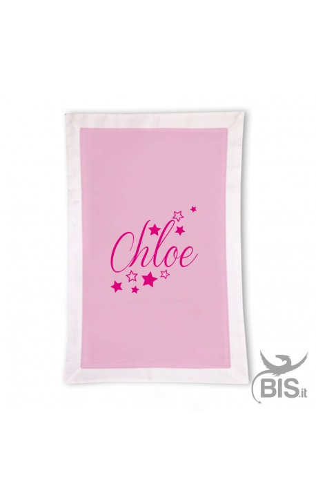 Cotton Light Blanket STARS WAKE, custom with name