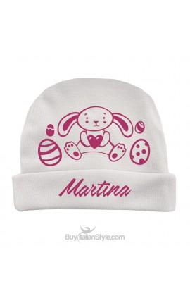 Cappellino personalizzabile con nome e coniglietto