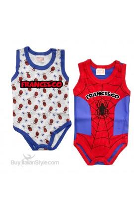 """Coppia body """"Spiderman"""""""