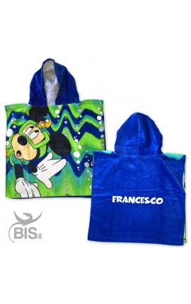 Personalized Kid Beach Bathrobe Mickey Mouse+Name