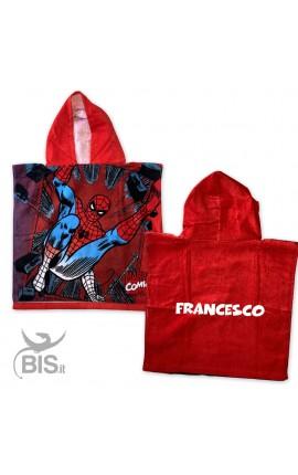 Personalized Kid Beach Bathrobe Spiderman+Name