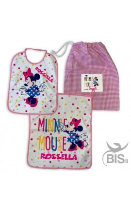 """Personalized Nursery School Set """"Minnie + Name"""""""