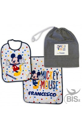 "Personalized Nursery School Set ""Mickey + Name"""