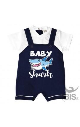 """Pagliaccetto Salopette """"baby Shark"""""""