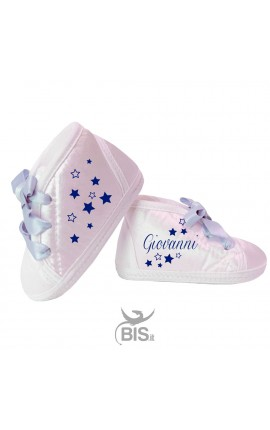 "Custom Baby Shoes ""Name+Butterfly"""