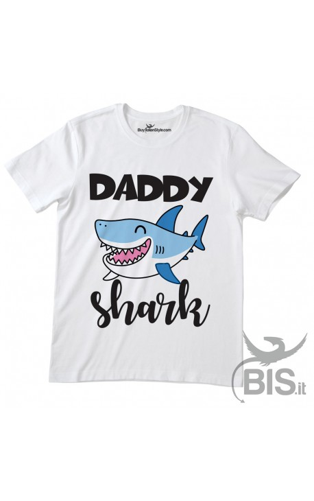 "T-shirt uomo mezza manica ""Daddy shark"""