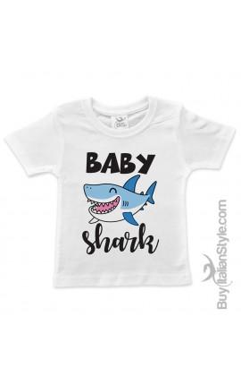 """T-shirt bimbo/a """"Baby shark"""""""