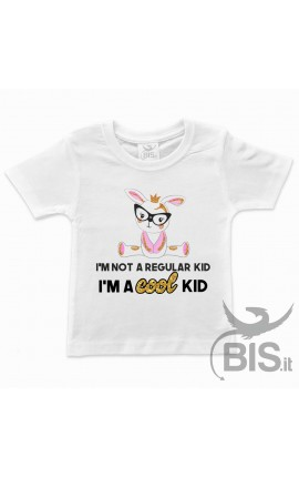 "T-shirt bimba manica corta ""Cool kid"""