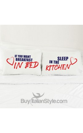 "Love Couples pillowcases ""Breakfast..."""