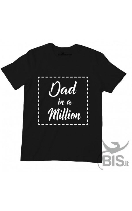 "T-shirt uomo mezza manica ""Dad in a million"""