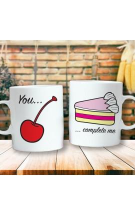 """Couples mug """"You Complete Me"""""""