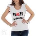 """Maglia donna con maniche ad alette """"Mom power"""""""