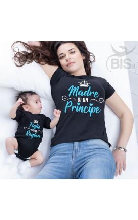 magliette abbinate figlio e madre